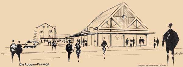 Zeichnung der Passage von 1986