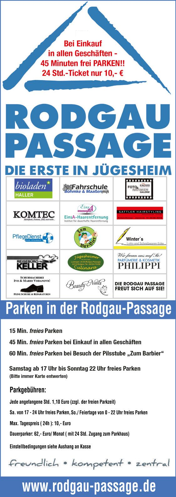 Parksystem Info Rodgau Passage